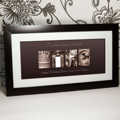 Personalised Affection Art Wife Large Frame